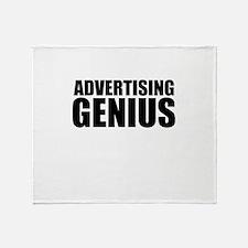 Advertising Genius Throw Blanket