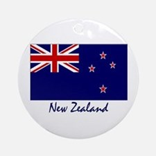 New Zealand Flag Ornament (Round)