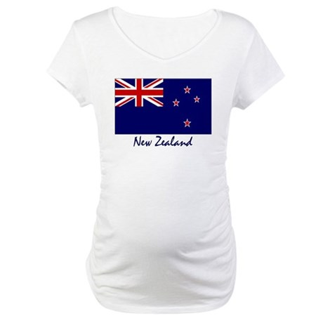 New Zealand Flag Maternity T-Shirt