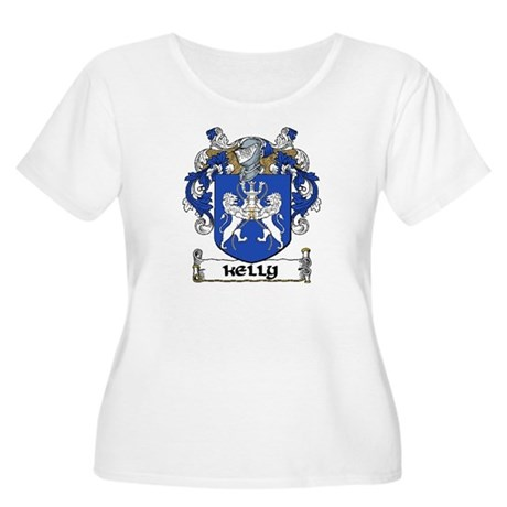Kelly Coat of Arms Women's Plus Size Scoop Neck T-