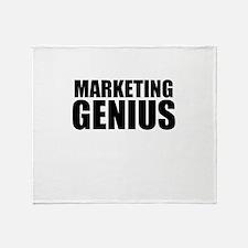 Marketing Genius Throw Blanket