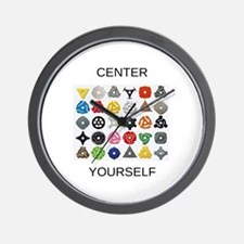Center Yourself Wall Clock