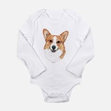 Unique Pembroke welsh corgi art Long Sleeve Infant Bodysuit