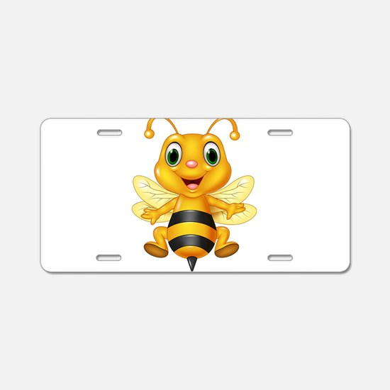 Honey bee Aluminum License Plate
