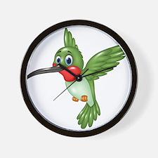 Hummingbird green Wall Clock