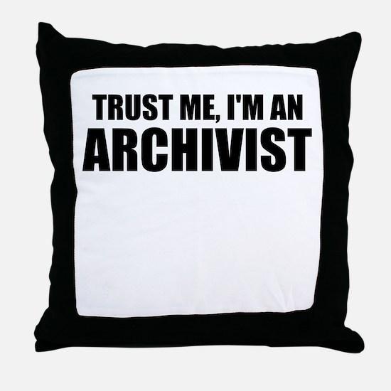 Trust Me, I'm An Archivist Throw Pillow