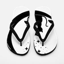 Stargazing cats Flip Flops