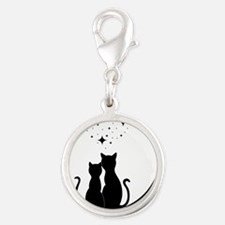 Stargazing cats Charms