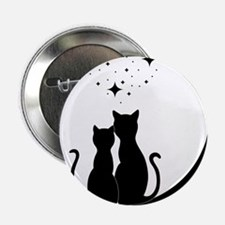 """Stargazing cats 2.25"""" Button (10 pack)"""