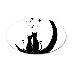 Stargazing cats Wall Sticker