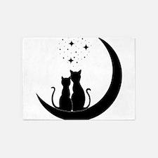 Stargazing cats 5'x7'Area Rug