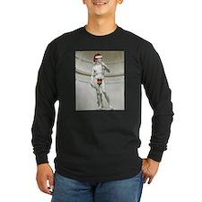 Santa David Long Sleeve Black T-Shirt