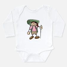Cute Backpack Long Sleeve Infant Bodysuit