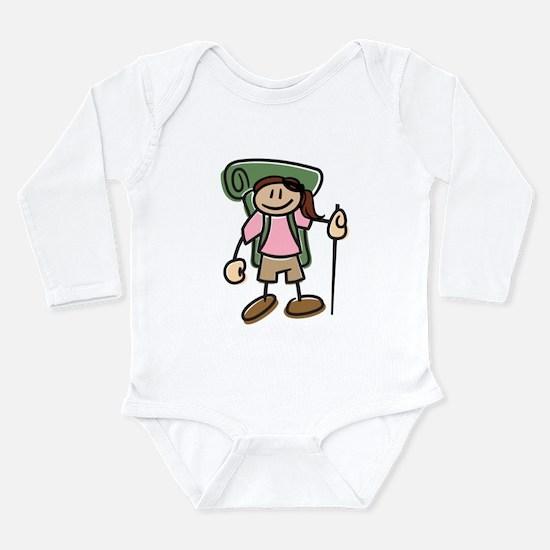 Cute I like hike Long Sleeve Infant Bodysuit