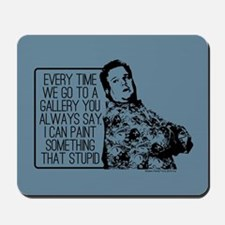 Modern Family Cam Painting Mousepad