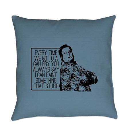 Modern Family Cam Painting Everyday Pillow by ModernFamilyTV