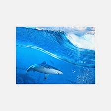 Underwater Shark 5'x7'Area Rug