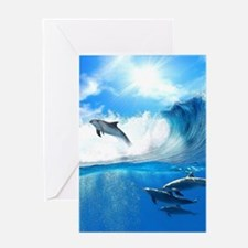 Beautiful Dolphins Greeting Cards