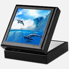 Beautiful Dolphins Keepsake Box
