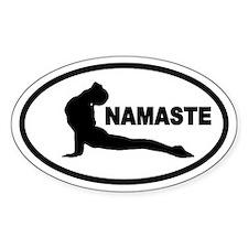 Yoga Namaste Oval Decal