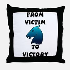 Victory Horse Throw Pillow