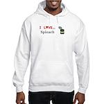I Love Spinach Hooded Sweatshirt