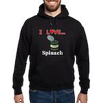 I Love Spinach Hoodie (dark)