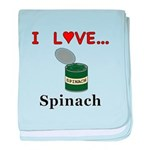I Love Spinach baby blanket