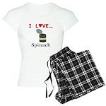I Love Spinach Women's Light Pajamas