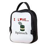 I Love Spinach Neoprene Lunch Bag