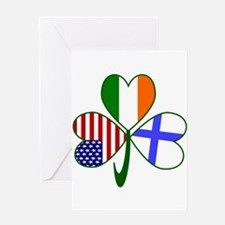 Shamrock of Finland Greeting Cards