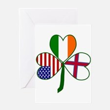 Shamrock of Faroe Islands Greeting Cards