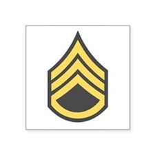 "Unique Army first sergeant insignia Square Sticker 3"" x 3"""