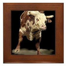 Cute Farm animals Framed Tile