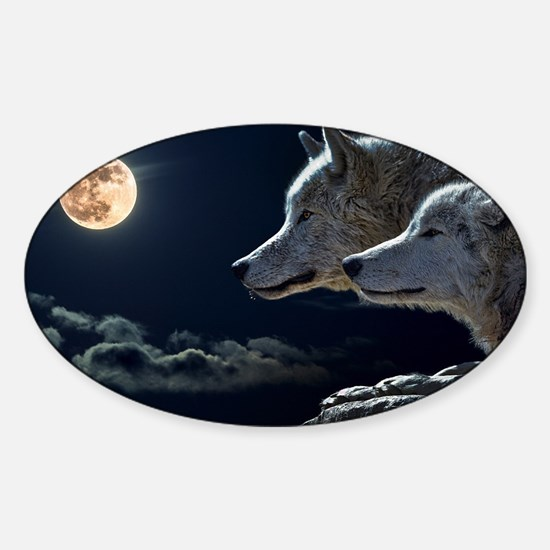 Moon & Wolfs Decal