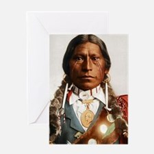 Apache Native American Chief Greeting Cards