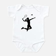 Badminton woman girl Infant Bodysuit