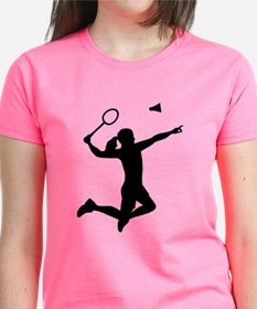 Badminton woman girl Tee