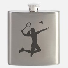 Badminton woman girl Flask