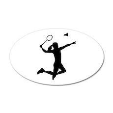 Badminton woman girl Wall Decal