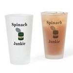 Spinach Junkie Drinking Glass