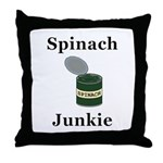 Spinach Junkie Throw Pillow
