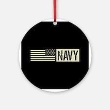 U.S. Navy: Navy (Black Flag) Round Ornament