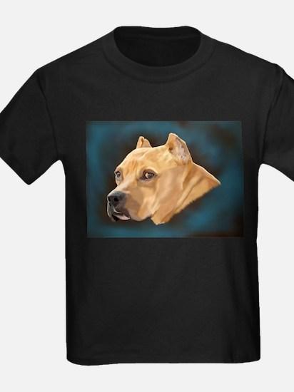 Pitbull Art Portrait T-Shirt