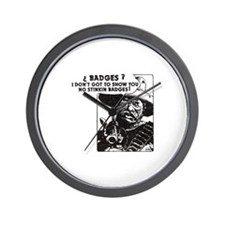 No Steeking Badges Wall Clock