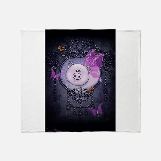 Pretty Piggy Throw Blanket