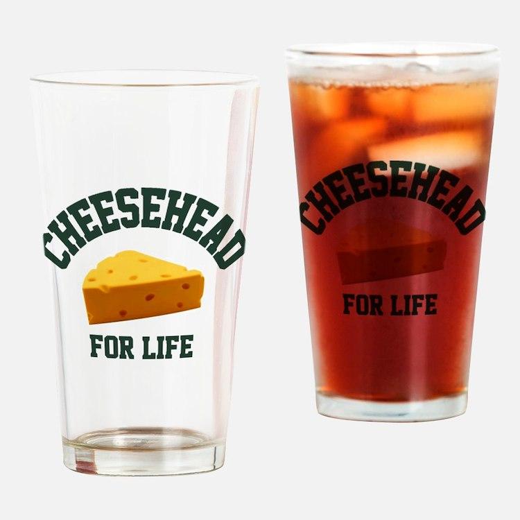 Cute Cheesehead Drinking Glass