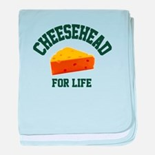 Cheesehead for LIFE! baby blanket