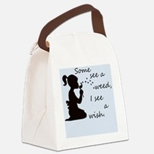 Unique Dandelion wishes Canvas Lunch Bag