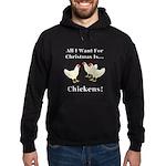 Christmas Chickens Hoodie (dark)